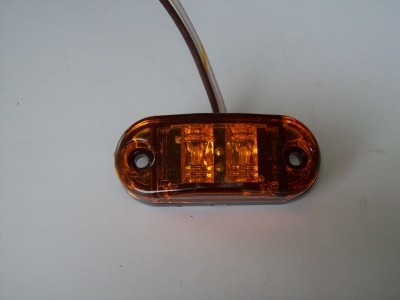 Oval Amber Marker Light