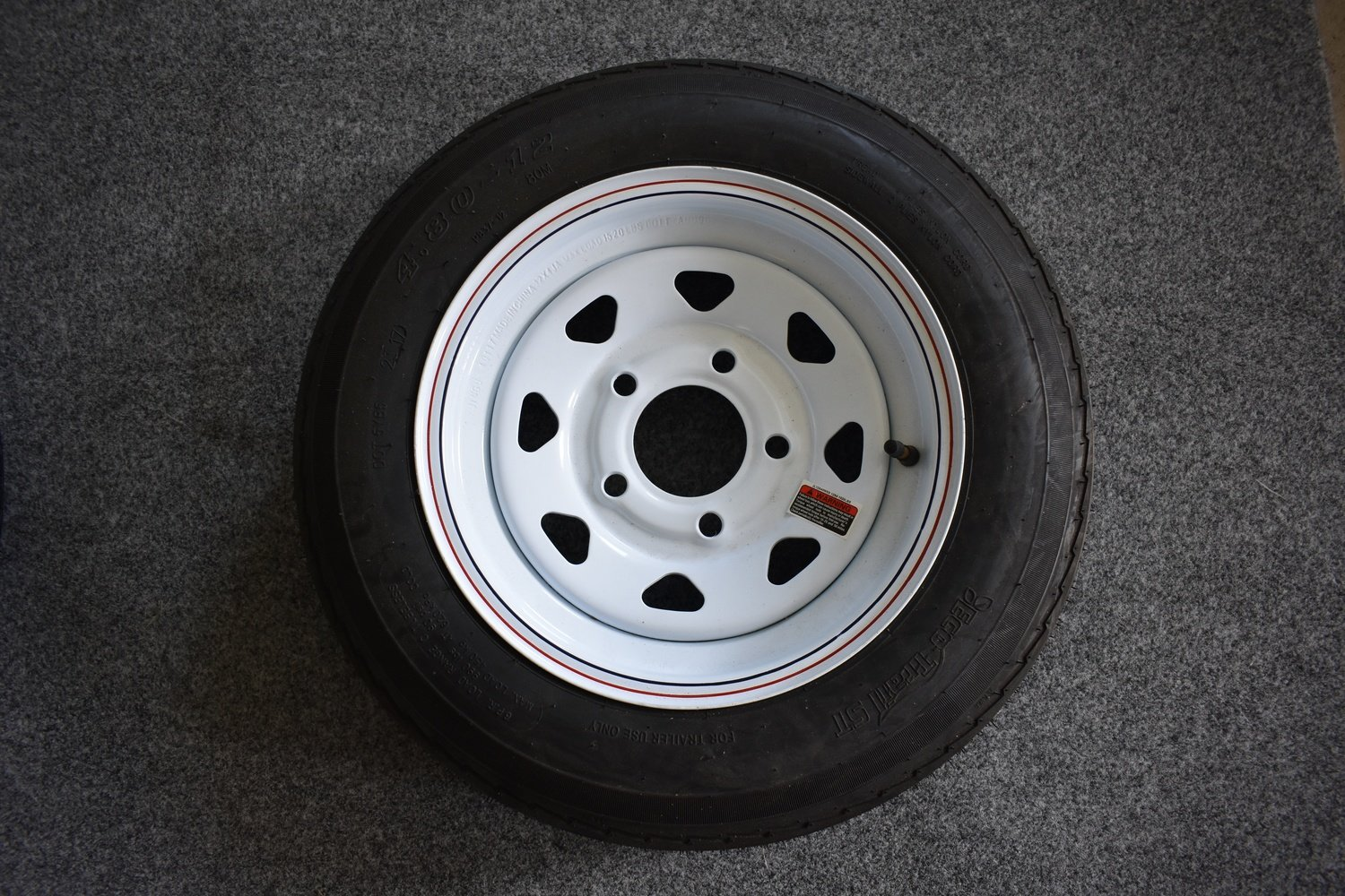 "4.80 X 12"" White Tire & Wheel"