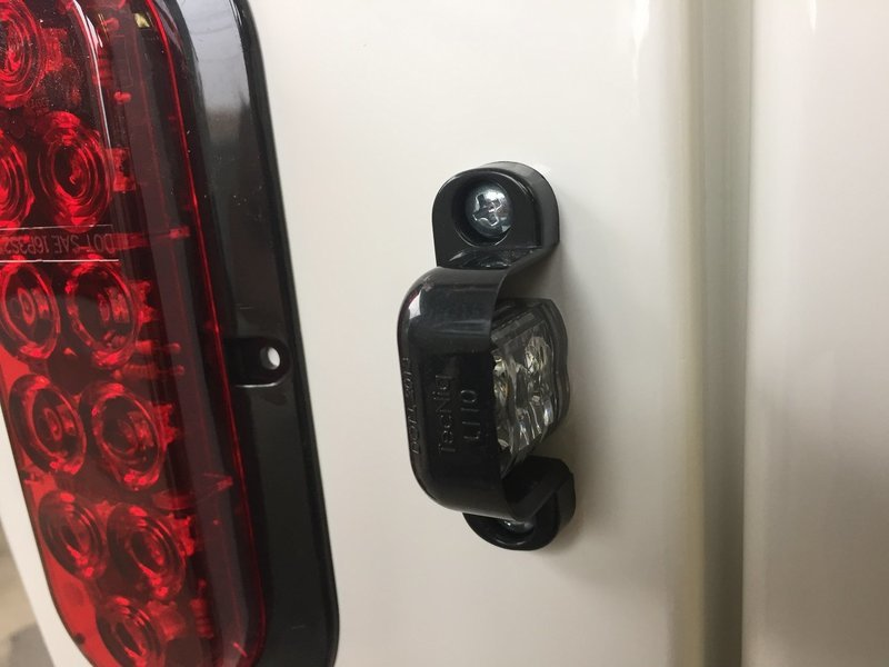 LED License Light Small Black