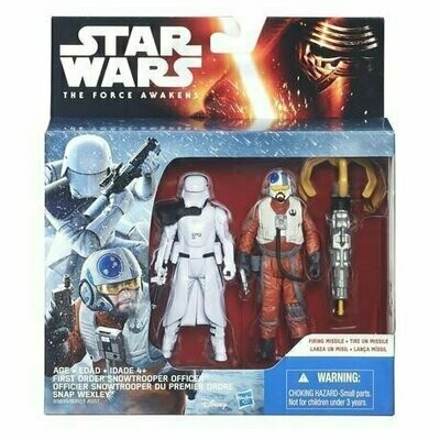 Star Wars - The Force Awakens - First Order Snowtrooper & Snap Wexley (2-Packs)