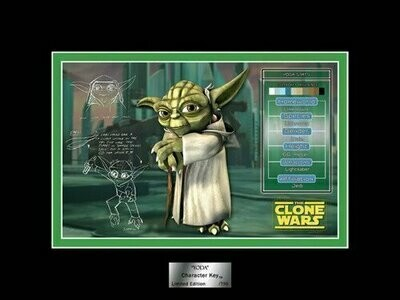 Star Wars - Character Key - 2008 - Limited Edition 0750 - Yoda (San Diego Comic Con)