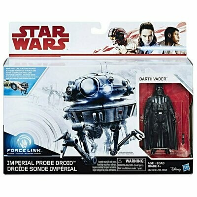 Star Wars - The Last Jedi - 3.75 Creatures - Imperial Probe Droid & Darth Vader