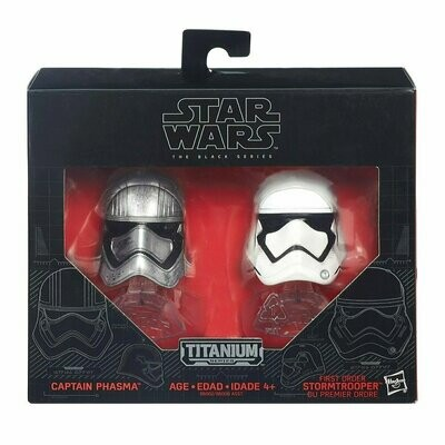 Star Wars - Titanium - The Black Series - Captain Phasma & First Order Stormtrooper Helmet