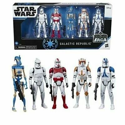 PREORDER 2020-10 Star Wars - Celebrate The Saga - Galactic Republic Action Figure Set