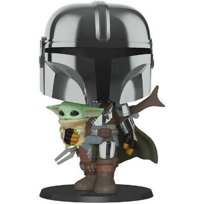 PREORDER 2020-11 Pop ! Star Wars 380 - The Mandalorian with the Child - 10-Inch
