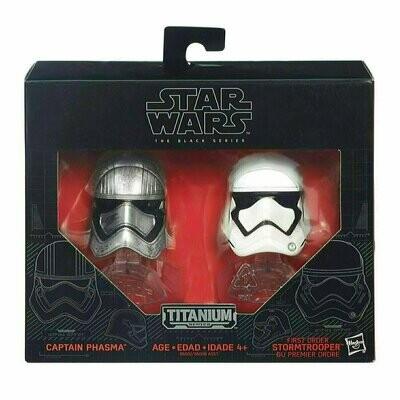 Star Wars - Titanium - The Black Series - Captain Phasma & First Order Stormtrooper Helmet