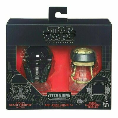 Star Wars - Titanium - The Black Series - Imperial Death Trooper & Rebel Commando Helmet