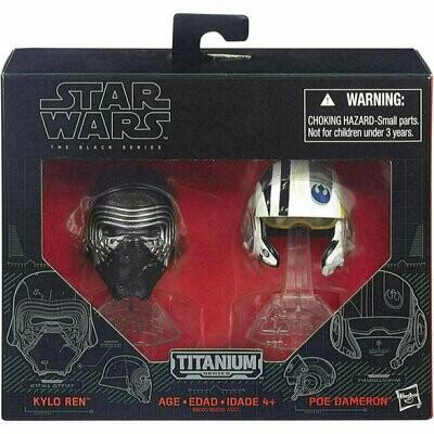 Star Wars - Titanium - The Black Series - Kylo Ren & Poe Dameron Helmet
