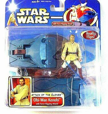 Star Wars - Saga - Deluxe Obi-Wan Kenobi with Force-Flipping Attack