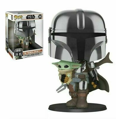 Pop ! Star Wars 380 - The Mandalorian with the Child - 10-Inch