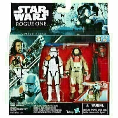 Star Wars - Rogue One - 2-Pack Baze Malbus & Imperial Stormtrooper