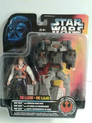 Star Wars - POTF2 - Han Solo with Smuggler Flight Pack (Deluxe)