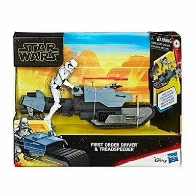 Star Wars - Galaxy Of Adventures 5-Inch - First Order Driver and Treadspeeder Vehicle