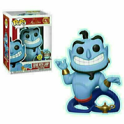 Pop ! Disney 476 - Aladdin - Genie with Lamp (Glow) (Specialty Series)