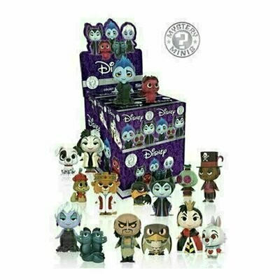 Funko - Mystery Minis - Disney Villains (1 Randomly Picked)