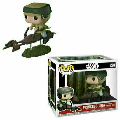 Pop ! Star Wars 228 - Princess Leia with Speeder Bike (Deluxe)