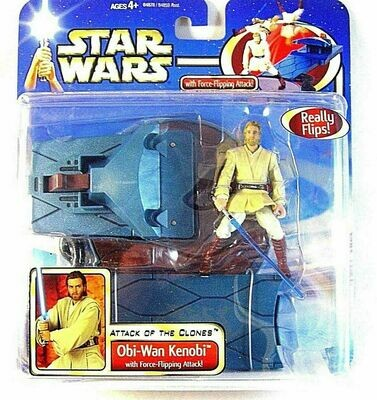 Star Wars - Saga - Deluxe Obi-Wan Kenobi with Force-Flipping Attack