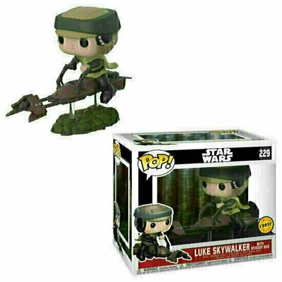 Pop ! Star Wars 229 - Luke Skywalker with Speeder Bike (Deluxe Chase)