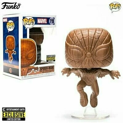 PREORDER 2020-12 Pop ! Marvel 719 - Spider-Man Wood Deco (Exclusive)