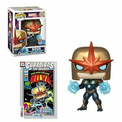 Pop ! Marvel 494 - Nova (PX Exclusive) with Guardians Of The Galaxy #7 variant