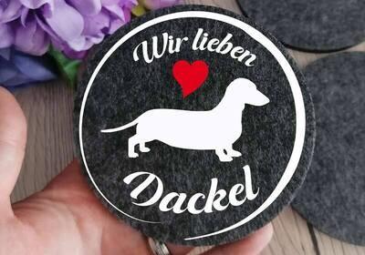 Filz Untersetzer Dackel #2