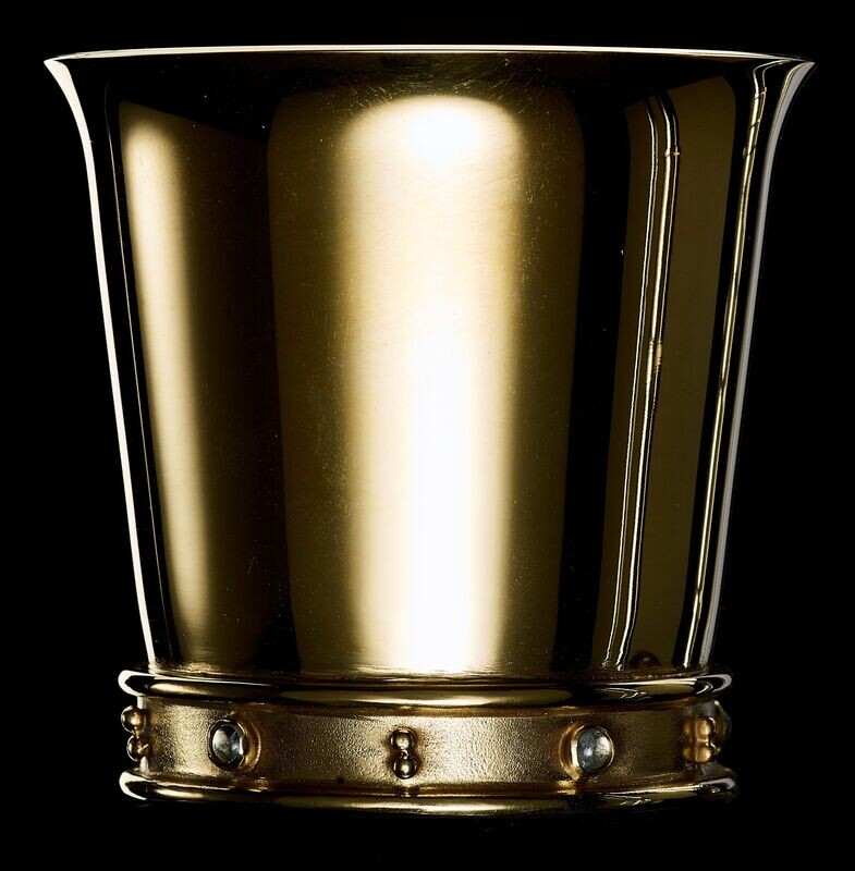 Silver Gilt and Aquamarine Cup