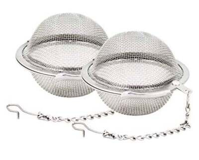 2 PC Stainless Steel Mesh Tea Ball Strainer