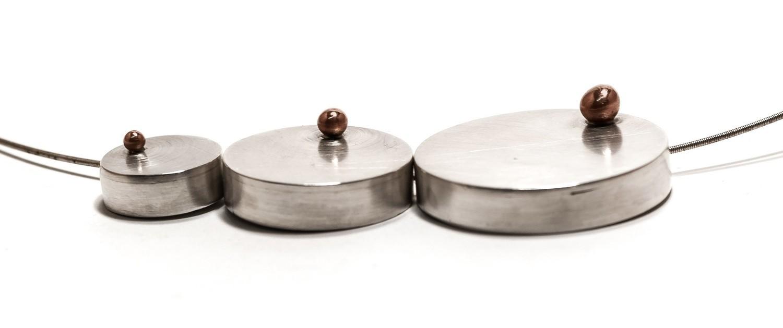 Collar Eclipse de plata y cobre