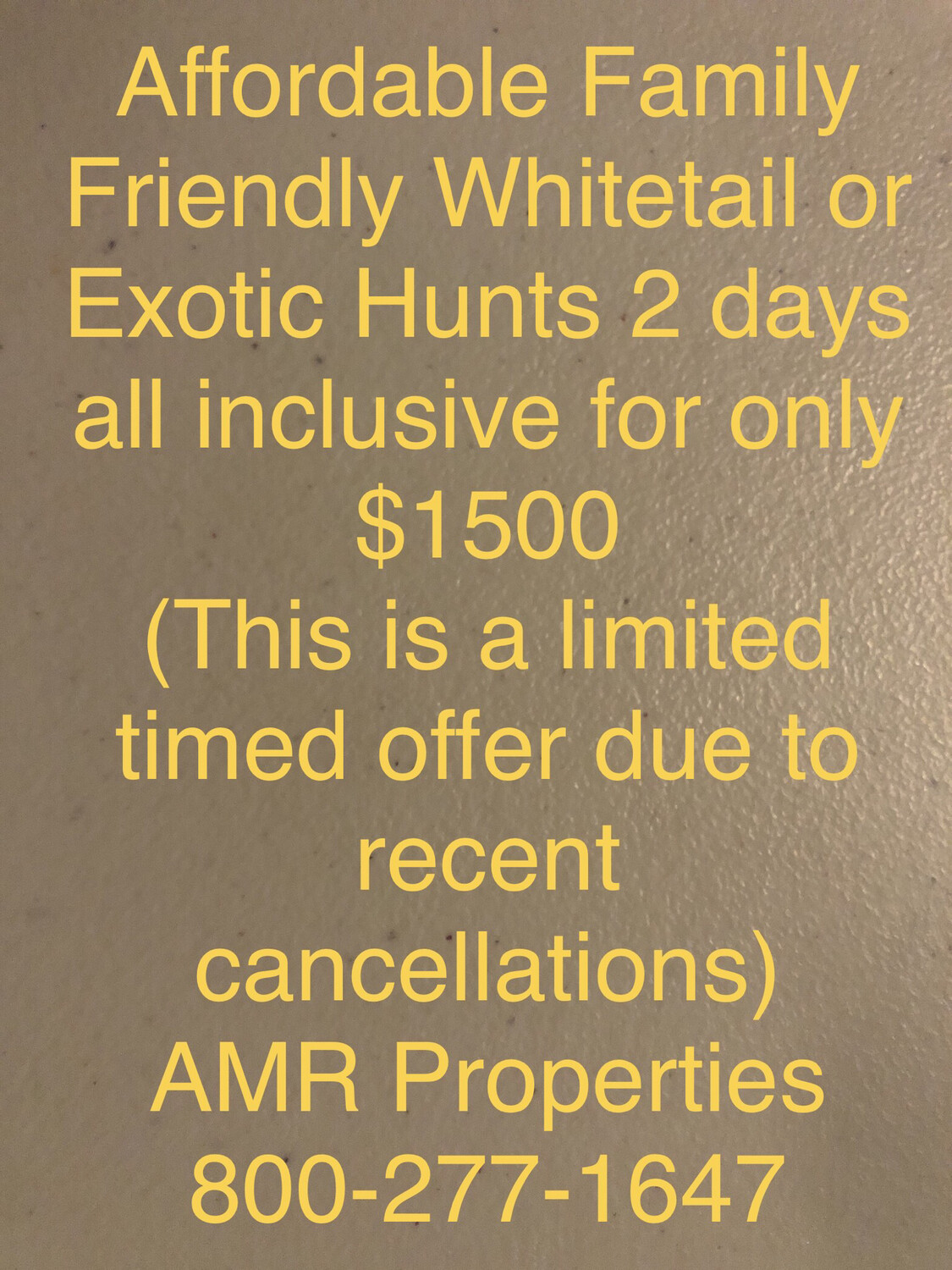 Affordable, Family Friendly - Management Whitetail or Exotic Hunt in the Texas Hill Country - 2 day 2 night all inclusive For Only