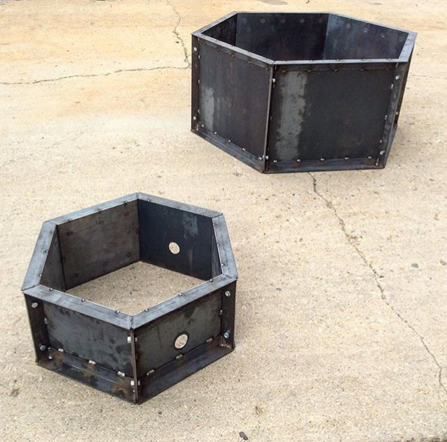 Hexagon Fire Pit - Suburban Size (Med)