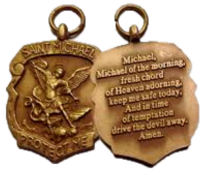 St Michael Medal with free bookmark