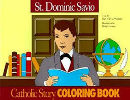 Catholic Colouring Book - St Dominic Savio