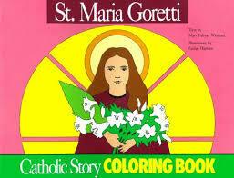 Catholic Colouring Book - St Maria Goretti