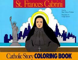 Catholic Colouring Book - St Frances Cabrini
