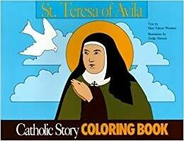 Catholic Colouring Book - St Teresa of Avila