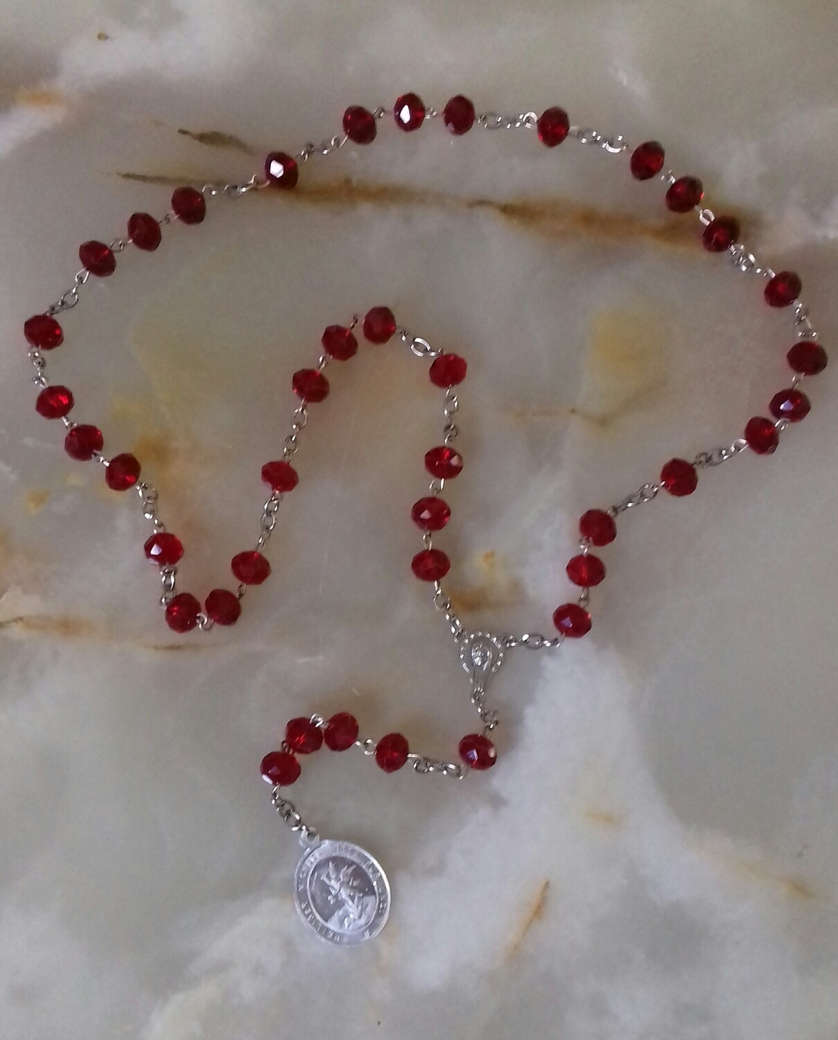 St Michael Chaplet - Red