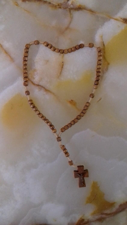 Tiny Wooden Rosary