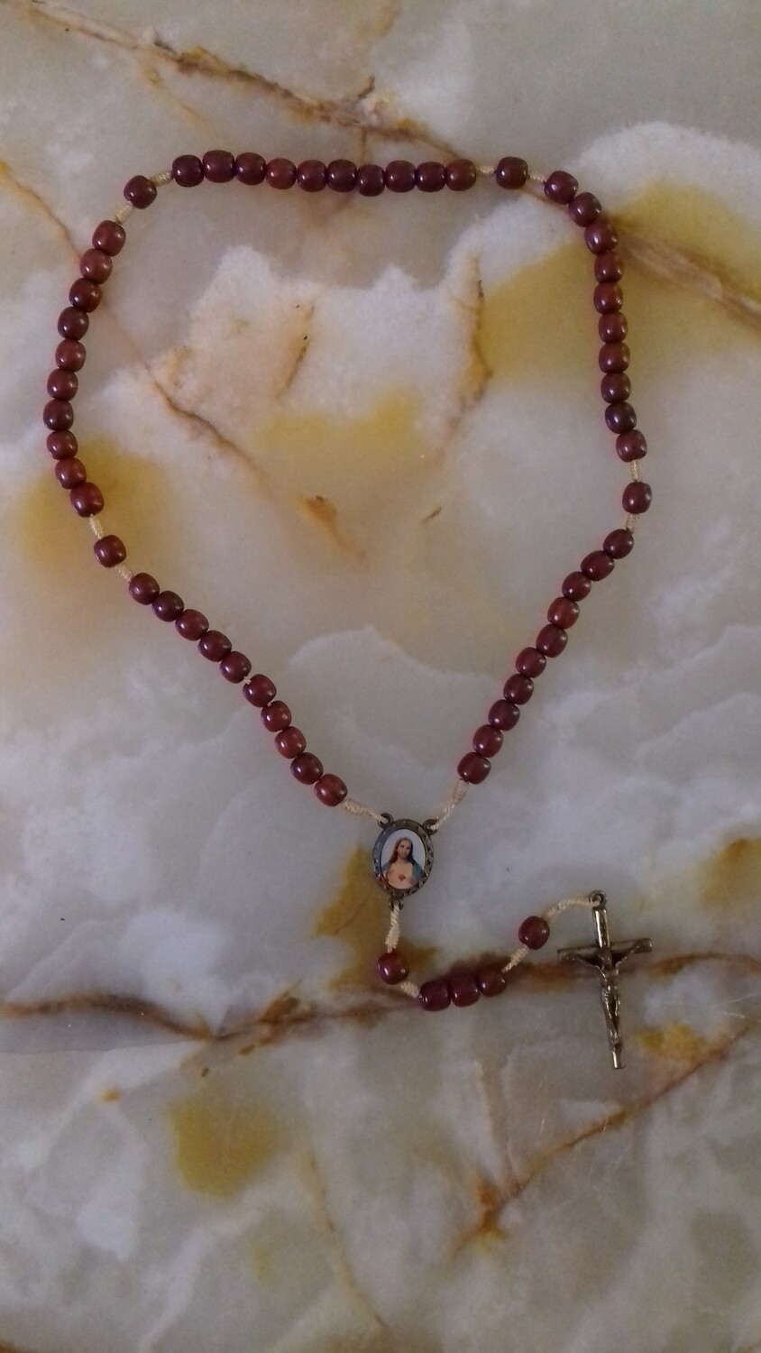 Wooden Bead Rope Rosary