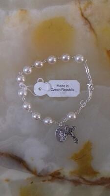 White Rosary Bracelet