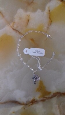 Clear Rosary Bracelet