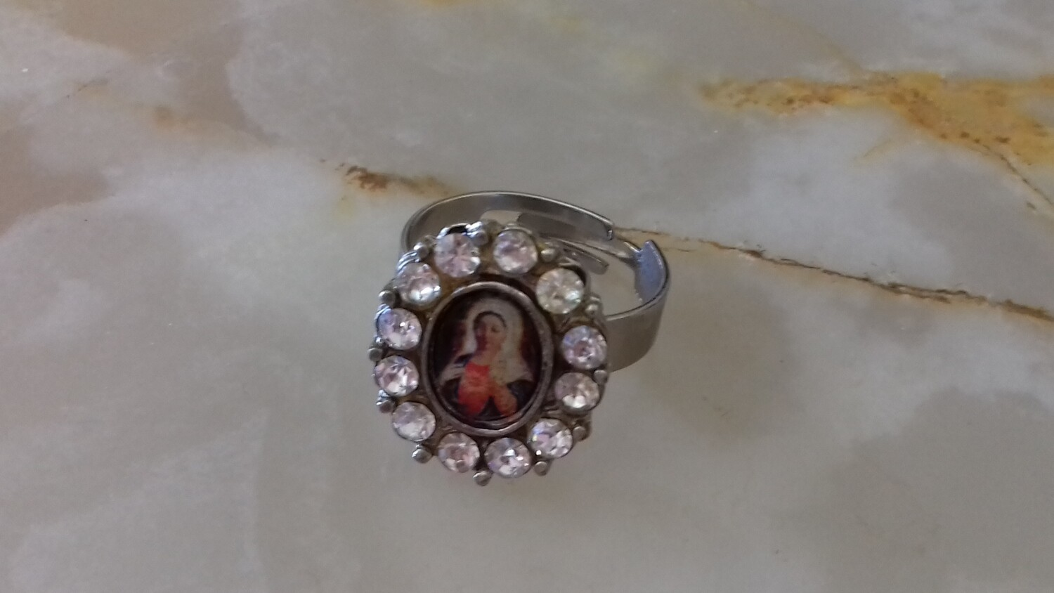 Diamante Ring Immaculate Heart