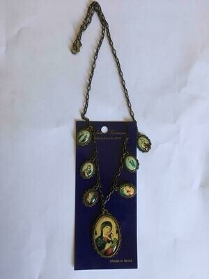 Necklace with medals and Our Lady of Perpetual Help