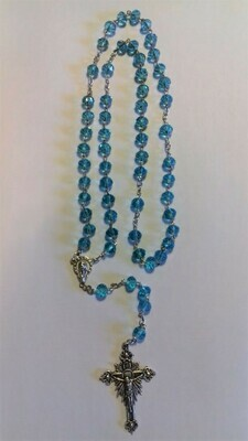 Turquoise Blue Crystal Rosary