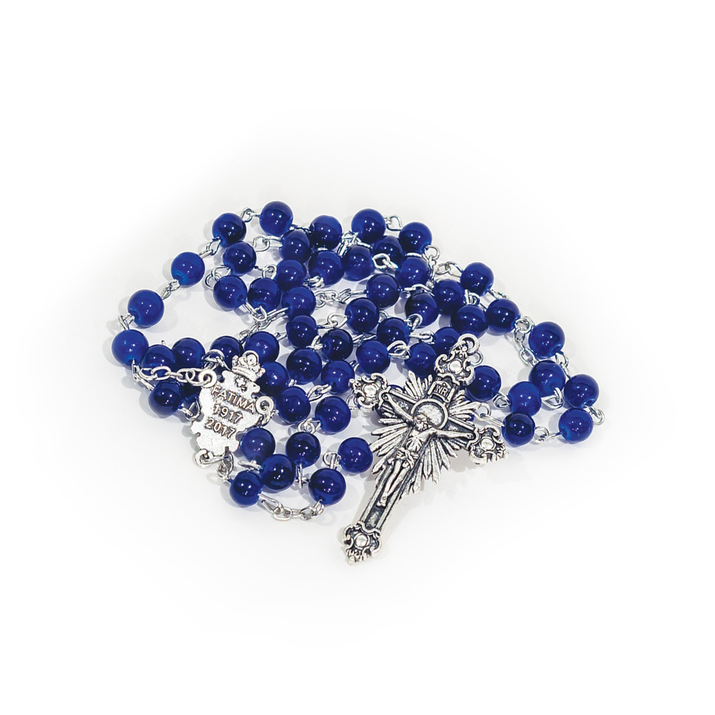 Blue Fatima Centenary Rosary