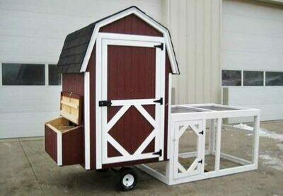 4x4 Gambrel Barn Run Coop Kit
