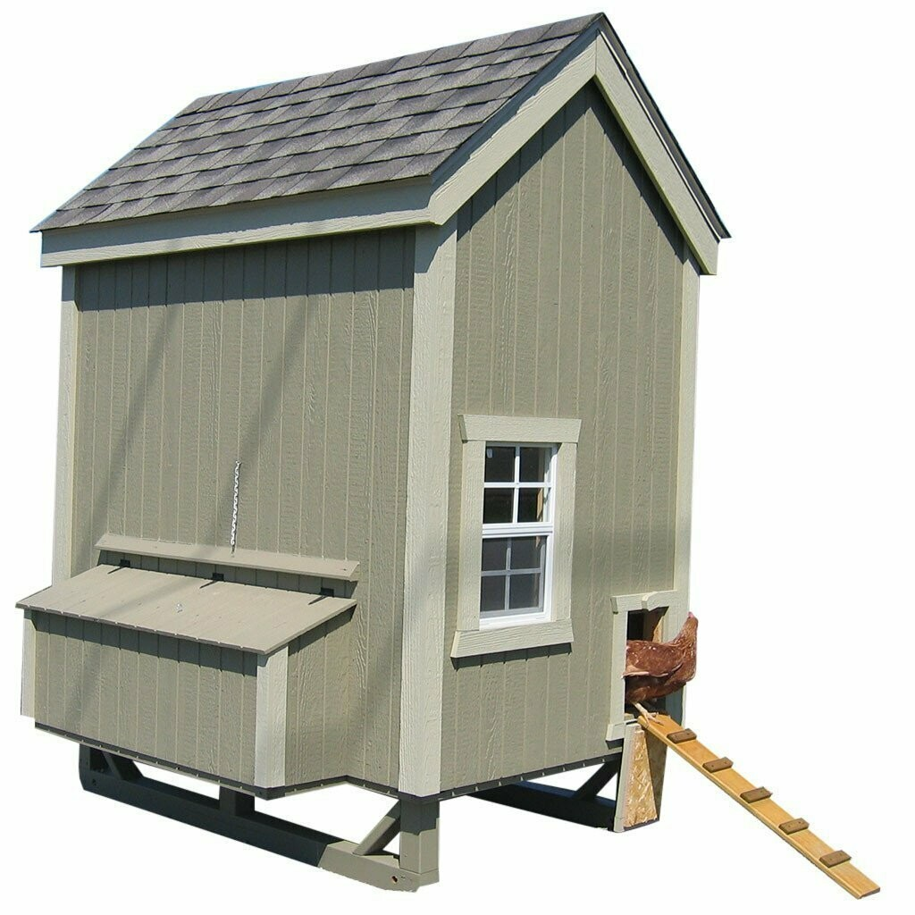 4x6 Colonial Gable Coop Kit