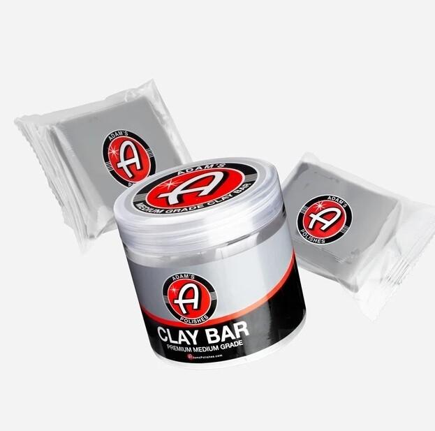ГЛИНА ДЛЯ УМЕРЕННЫХ ЗАГРЯЗНЕНИЙ, 2х100гр + контейнер / Adam's Medium Grade Clay Bar Kit