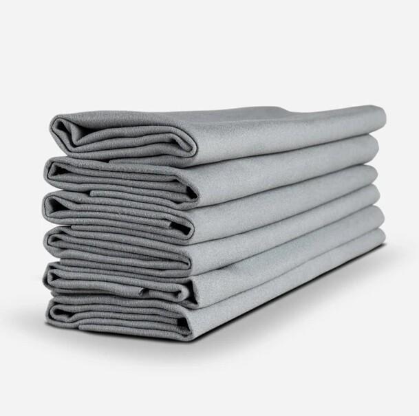 ЗАМШЕВОЕ ПОЛОТЕНЦЕ ДЛЯ КЕРАМИКИ 6ШТ, 40х40см / Suede Microfiber Towel