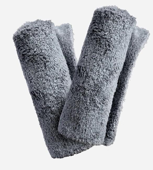 ПОЛОТЕНЦЕ ПЛЮШЕВОЕ, СЕРОЕ БЕЗ КРАЕВ, 40х40см, 2 ШТ / Adam's Borderless  Gray Towel, 2 PACK