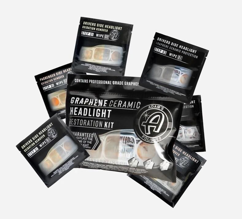 КЕРАМИЧЕСКИЙ НАБОР ДЛЯ ВОССТАНОВЛЕНИЯ ПРОЗРАЧНОСТИ ФАР С ГРАФЕНОМ, STANDARD / Graphene Ceramic Headlight Restoration Kit